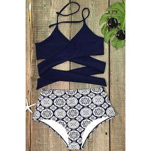 Brand New!! High Waisted Strappy Bikini